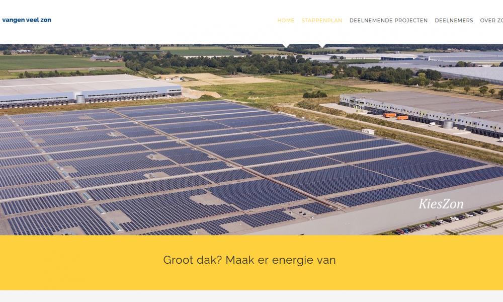 17 zonprojecten op grote daken - uitsnede website