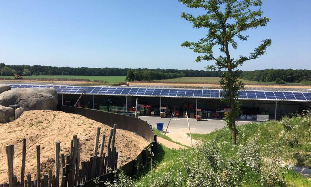 Wildlands zonnepanelen dak